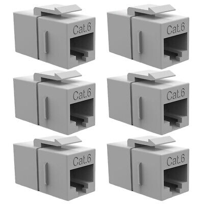 Cat6 LAN Joiner Coupler Coupling Snap-In Jack for Keystone Wall Plate