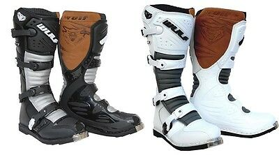 Wulfsport La Motorcross Off Road  Superboot In Black Or White