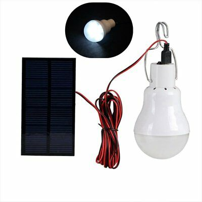 Portable Solar Powered LED Light Bulb with Solar Panel for Outdoor Hiking Camp