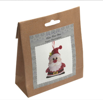 Make Your Own Santa Felt Tree Decoration Kit Groves Christmas Crafts GCK004