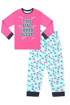 Teenage Girl's Long Pyjamas EMOJI Style  DO NOT DISTURB Pjs 9 to 16 Years