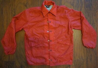 Vtg Pla-jac By Dunbrook Sz M Red Racer Jacket Made In USA