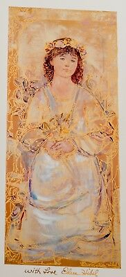 "Edna Hibel Wendy Child of America Signed and Numbered Limited Edition 15"" x 61/2"
