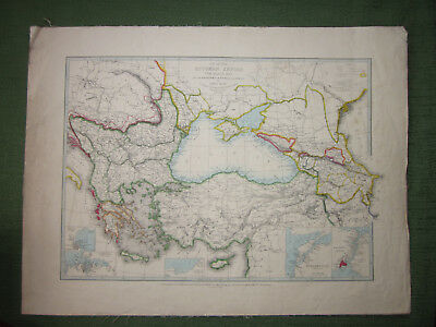 Map of the Ottoman Empire, Black Sea and the Frontiers of Russia and Persia