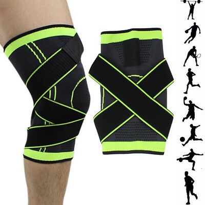 3D Weaving Sport Pressurization Elastic Knee Support Pad Brace Pressure Protect