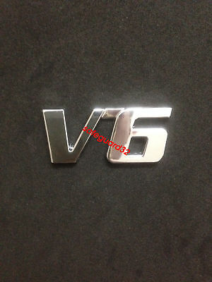 Car Metal V6 Emblem Badge 3D Decal Trunk Sticker Car Sticker for Ford Fiesta