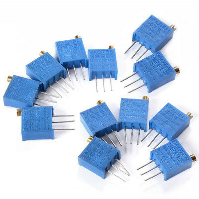 60Pcs 3296W Multiturn Trimmer Potentiometer Kit High Precision Variable T8D4