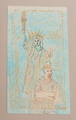 "Edna Hibel ""RADIANT LIBERTY"" Signed and Numbered Limited Edition 131/2 x 71/4"