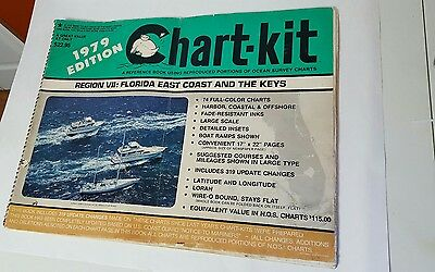 Chart -Kit Maps 1979 Region VII Florida East Coast and the Keyes Nautical
