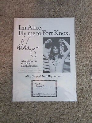 Alice Cooper Fly Me To Fort Knox  Autographed Poster