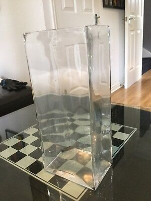 glass vase, used in excellent condition height 40cm and width 18cm length