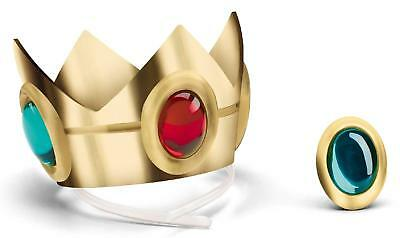 Super Mario Brothers Princess Peach Crown & Amulet-Child One Size-Gold by Disgui