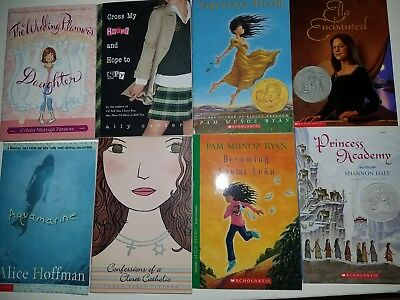Girls Middle school age book lot of 8