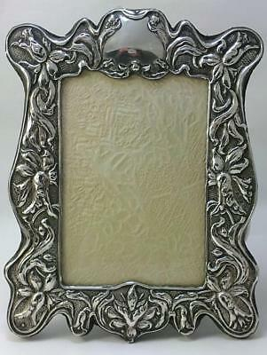 Art Nouveau hallmarked Silver-fronted 21cm x 16cm Photo Frame- Chester 1903