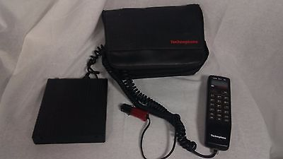 Vintage Technophone BC-901 w/ Case  - Early Cellular Mobile Car Phone