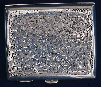 **NICELY Engraved 1909 Silver Curved Cigarette Card Case Smith Bartlam