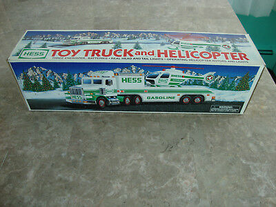 1995 *hess* Toy Truck And Helicopter  *new In Box* *fast Shipping*    L@@k