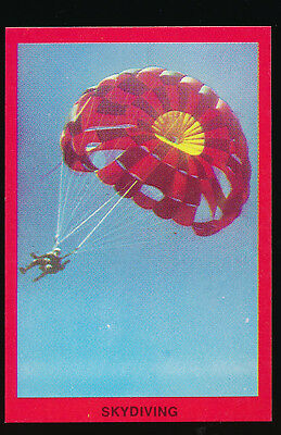 1973 Sunblest Sports Action Tip Top Bread Skydiving card r