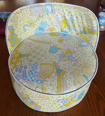 Vintage Retro Vinyl Baby Booster seat nursery   Mother Goose Humpty Dumpty