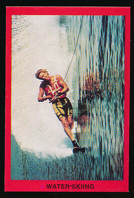 1973 Sunblest Sports Action Tip Top Bread Graeme Cockburn Water Skiing card r