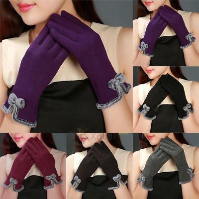 Women Winter Gloves Touch Screen Warm Soft Gloves Outdoor Driving Gloves Mittens