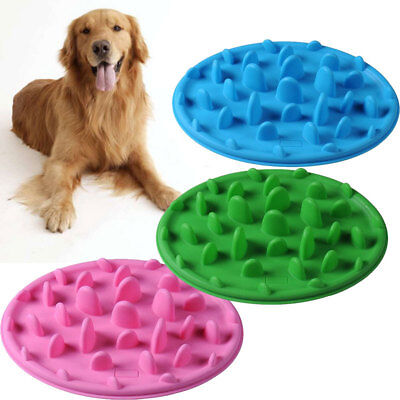 Pet Dog Cat Slow Feed Bowl Dish Pets Slays Eating Alimentateur Bowl Silicone