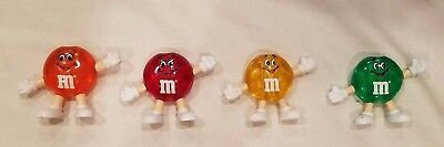 M & M CANDY Christmas Light Toppers Red Orange Green Yellow Lot Mars Vintage NOS