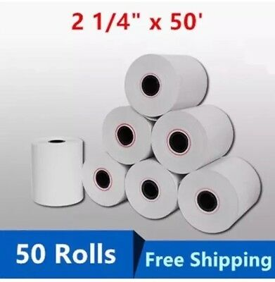 PRN Thermal Paper 2 1/4 inches x 50 feet  (Pack of 50) 50 Rolls