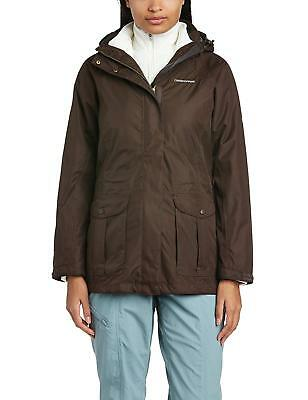 Craghoppers Madigan 3 In 1 Waterproof Jacket Famme Taille 12