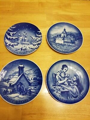 "Weihnachten Bareuther Bavaria Germany Plates 8"" 1968 1970 1976 lot of 4"