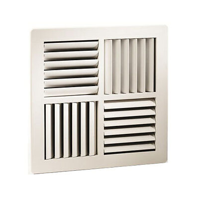 Square Ceiling Vent Outlet 4Way MDO Ducted Heating Vent 270x270mm FaceSize vent