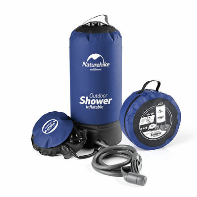 Outdoor 11L Portable Inflatable Shower Folding Bag Barrel Camping  Water Storage