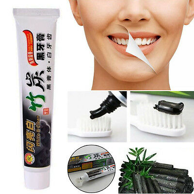 Natural Bamboo Charcoal Black Whitening Toothpaste 100g Whitener Tooth Paste