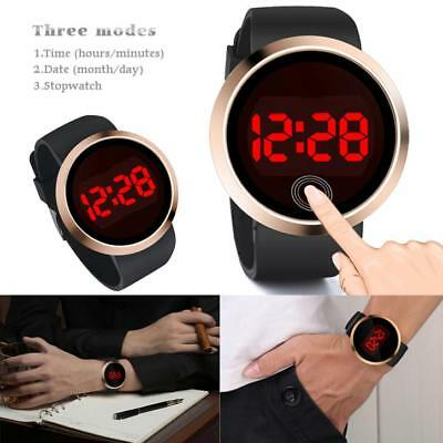 Fashion Waterproof Men's Watch LED Touch Screen Date Silicone Wrist Watches
