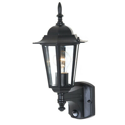 NEW Mercator Tilbury Cast Aluminium Outdoor Coach Wall Light & Sensor - MX4011/S