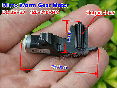 Micro DC 3V 6V 240RPM Worm Gear Motor Gearbox Reduction Wheel For Car Robot DIY