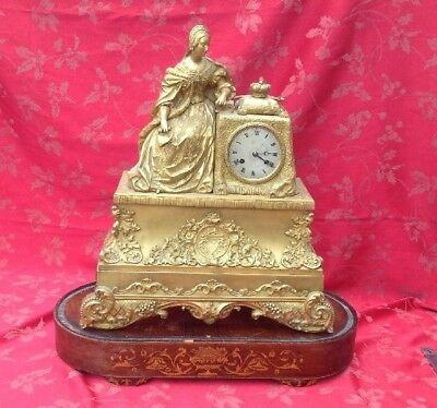 Stunning Large French Empire Clock For Restoration F Aubert Paris With Base