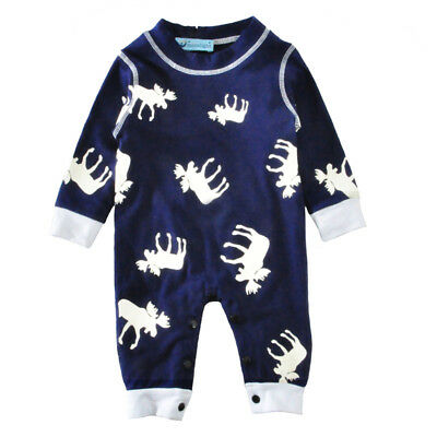 Crawling clothes Long-sleeved Coverall Rompers Newborn baby clothes Reindeer