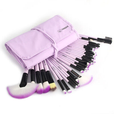 32Pcs Professional Makeup Brushes Set Fashion Foundation Kabuki Eyebrow Brush