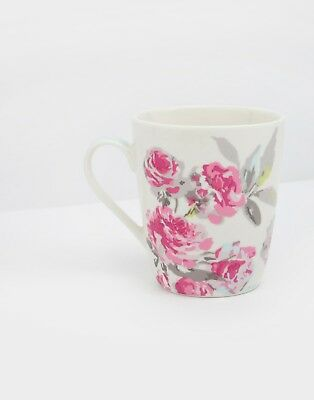 Joules Printed Mug in Bright White Floral - Brand New in Box