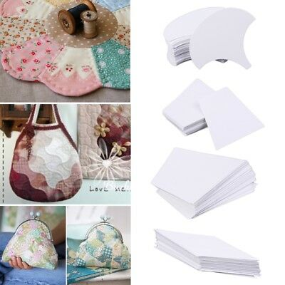 DIY 100Pcs English Paper Piecing Quilt Templates Patchwork Sewing Crafts Tool
