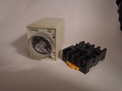 New Cnqy Type St3Pf Timer Relay Ac 110V 0-5 Second With Base