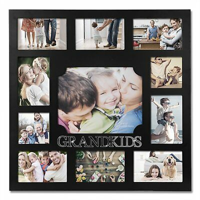 WOLTU Collage Picture Frame Decorative Wood Wall Hanging Photo Frame, 11 Opening