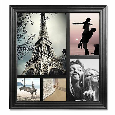 WOLTU 5-opening Wall Hanging Collage Picture Frame, Black