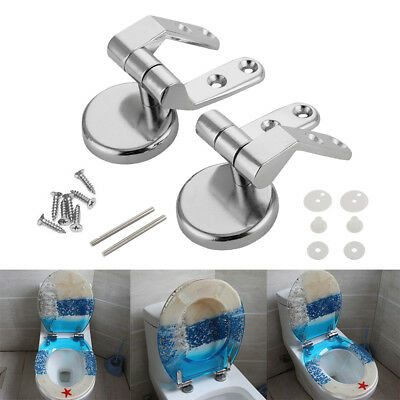 Replacement Toilet Seats Hinge Set Chrome Hinges With Fittings For Wood Finished