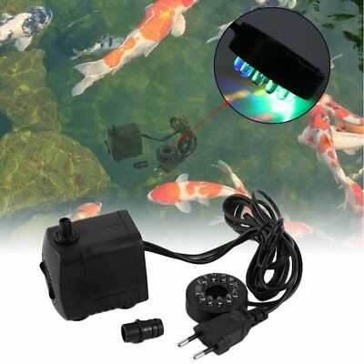15W AC 220-240V 12 LED Submersible Water Pump For Aquarium Fountain Fish Tank YP