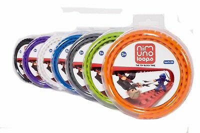 Official Nimuno loops lego compatible self adhesive strips in various colours
