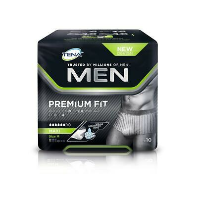 TENA Men Premium Fit Level 4 Pants - Medium - Pack of 10 Incontinence Pants
