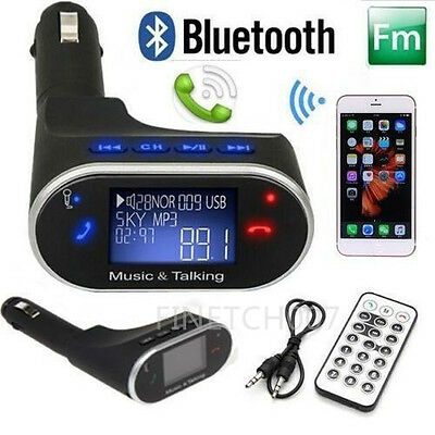 Bluetooth Car Radio Adapter Handsfree FM Transmitter for iPhone Samsung lot YP