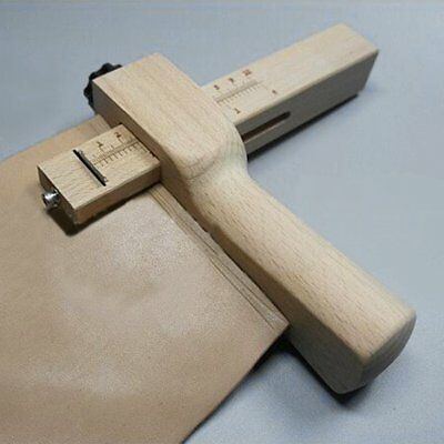 Practical Wood Adjustable Strip and Strap Cutter Craft Tool Leather Cutting YP